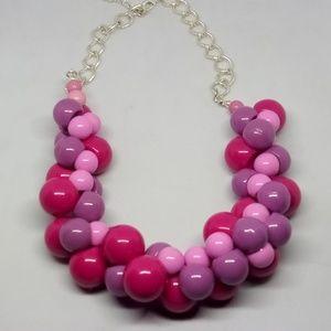 Vintage Pink & Purple Bauble Necklace